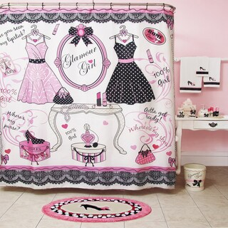 Homewear Glamour Girl Printed Shower Curtain