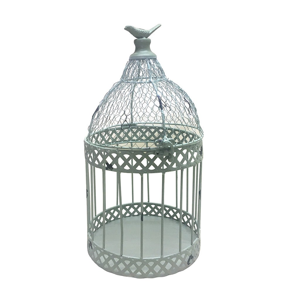 Jeco Louvil Metal Bird Cage (Set of 2) (White (Set of 2))