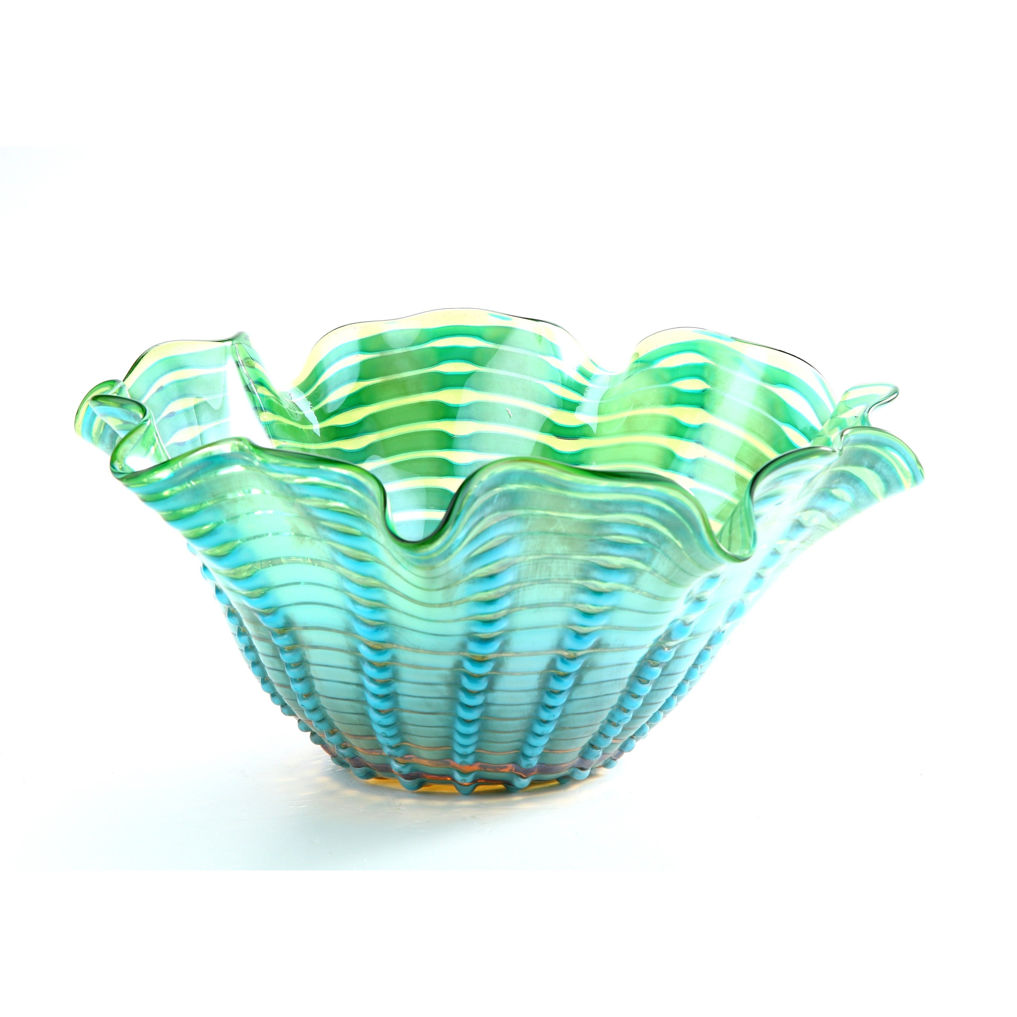 "Diamond Coral Gables Bowl (14""Diameter Green and blue col..."