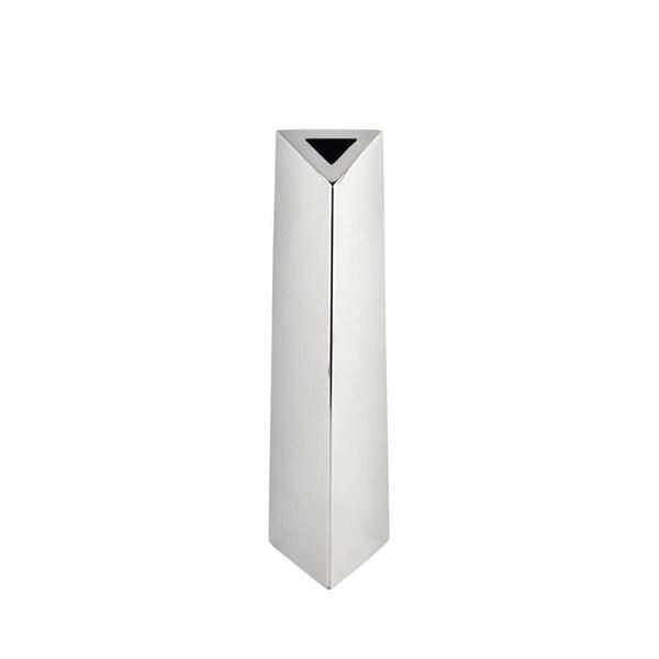 Stainless Steel Angled Triangular Vase Large