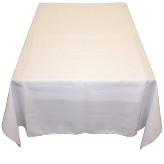 White Polyester Poplin Tablecloth - 60 x 60 Indoor-Outdoor Table Linen