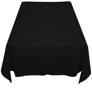 Black Polyester Poplin Tablecloth - 48 X 48 Indoor-Outdoor Table Linen