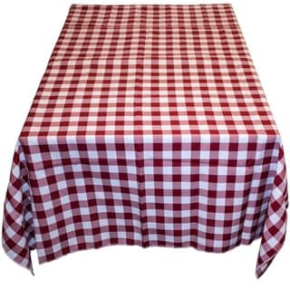 Gingham Checker Red & White - 60 x 60 Indoor-Outdoor Table Linen