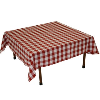 Gingham Checker Red & White - 48 x 48 Indoor-Outdoor Table Linen