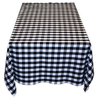 Gingham Checker Black & White - 48 x 48 Indoor-Outdoor Table Linen