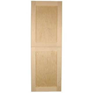 WG Wood Products Shaker-style Single-door Frameless Recessed Storage Cabinet - 14 x 44