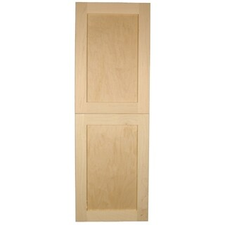 WG Wood Products Shaker-style Single-door Frameless Recessed Storage Cabinet