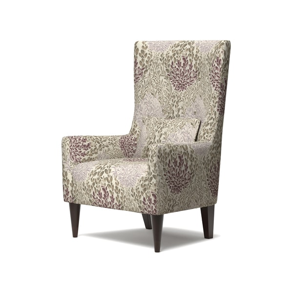 handy living venecia purple floral high back wing chair free shipping today