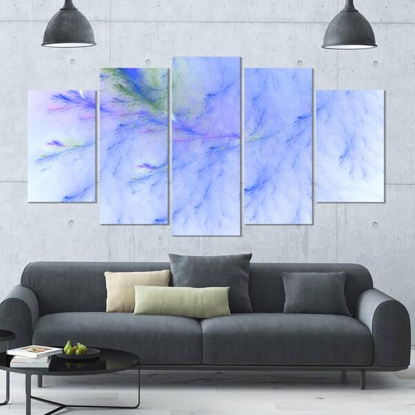 Shop Designart \'Light Blue Veins of Marble\' Abstract Wall Art Canvas ...