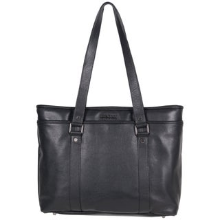 Kenneth Cole Reaction Downtown Darling Genuine Pebbled Leather Top Zip 16-inch Laptop Tote Bag