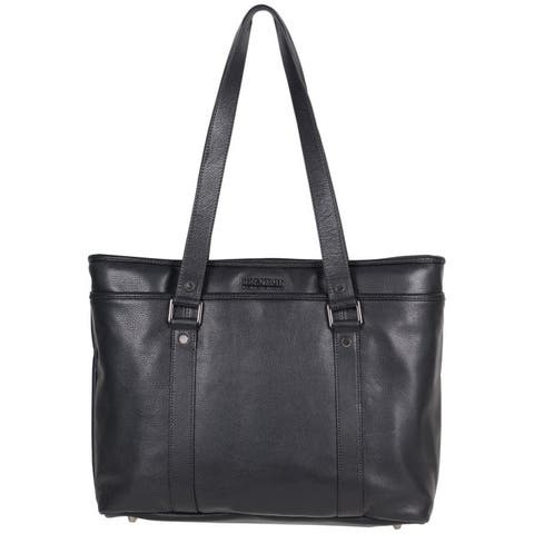 b96b0dd089f6 Kenneth Cole Reaction Downtown Darling Genuine Pebbled Leather Top Zip  16-inch Laptop Tote Bag
