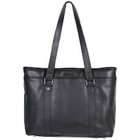 07e23aa0fb55 Kenneth Cole Reaction Downtown Darling Genuine Pebbled Leather Top Zip 16-inch  Laptop Tote Bag