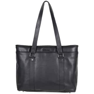 2c637f9c642 Kenneth Cole Reaction Downtown Darling Genuine Pebbled Leather Top Zip  16-inch Laptop Tote Bag