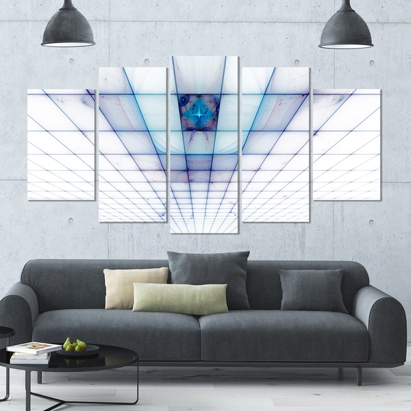Shop Designart Light Blue Laser Protective Grids