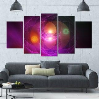 Designart 'Merge Colored Spheres.' Abstract Art Canvas Print - 60x32 - 5 Panels Diamond Shape