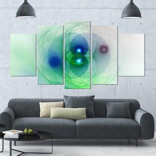 Designart 'Merge Colored Spheres.' Abstract Wall Art on Canvas - 60x32 - 5 Panels Diamond Shape