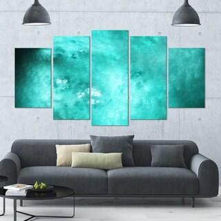Designart 'Blur Blue Sky with Stars' Abstract Artwork on Canvas - 60x32 - 5 Panels Diamond Shape