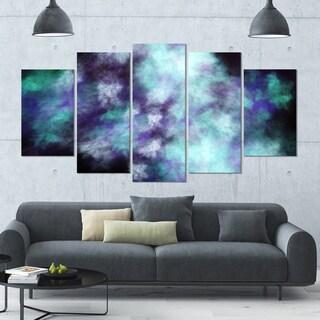 Designart 'Perfect Flowery Starry Sky' 60x32 5-panel Diamond Shaped Abstract Wall Artwork