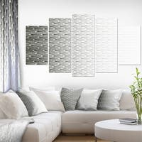 Designart Symmetrical Fractal Flower Diamond Shaped Abstract Wall Art