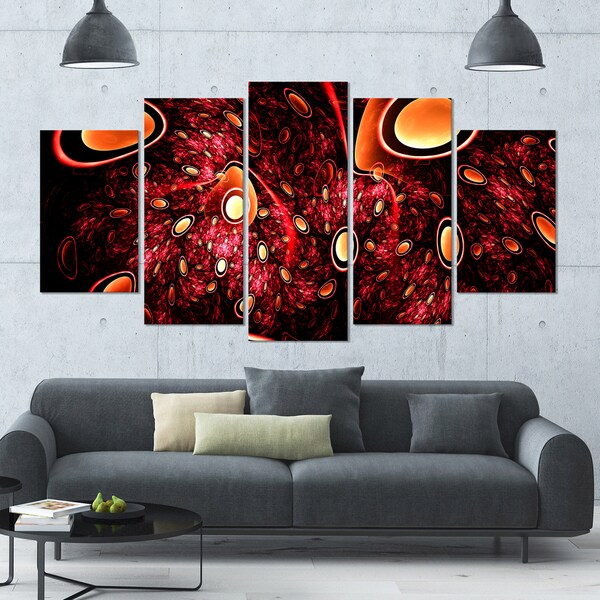 Shop Designart \'Red 3D Surreal Abstract Design\' Abstract Wall Art on ...
