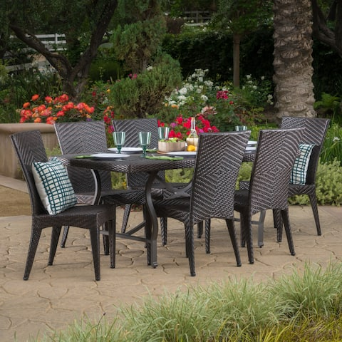 Dudley Outdoor 7-piece Rectangle Dining Set by Christopher Knight Home