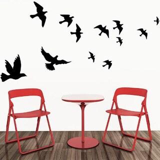 Flying Black Bird Removable Wall Vinyl 44 x 40