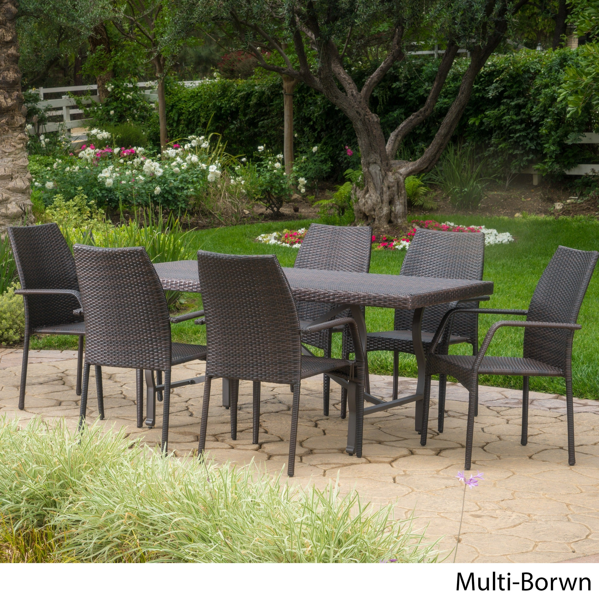Alexandria Outdoor 7 Piece Rectangle Dining Set By Christopher Knight Home Overstock 15378254
