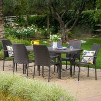 Alexandria Outdoor 7-piece Rectangle Dining Set by Christopher Knight Home