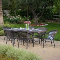 Lanaster Outdoor 7-piece Rectangle Dining Set by Christopher Knight Home