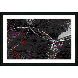Studio Works Modern Framed Fine Art Contemporary Abstract Painting 'Charcoal Conversions' Wall Art Giclee Print by Zhee Singer