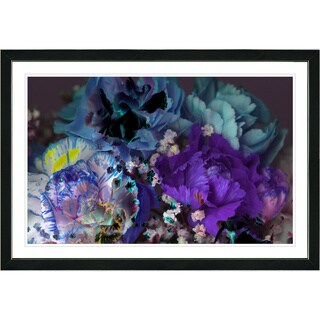 Studio Works Modern Framed Fine Art Contemporary Floral Still Life Painting 'Scented Bloom' Wall Art Giclee Print by Zhee Singer (More options available)