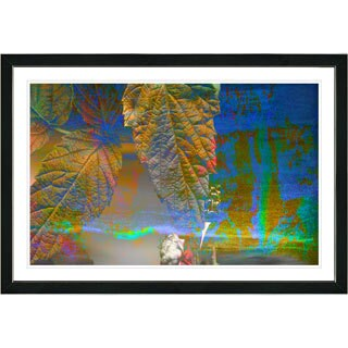 Studio Works Modern Framed Fine Art Abstract Floral Still Lie Painting 'Powers of Augury' Wall Art Giclee Print by Zhee Singer