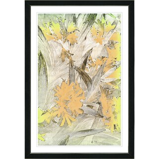Studio Works Modern Framed Fine Art Abstract Floral Still Life Painting 'Easter Lilies' Wall Art Giclee Print by Zhee Singer