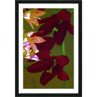 Studio Works Modern Framed Fine Art Floral Still Life Painting 'Isabels. Wall Art Giclee Print by Zhee Singer