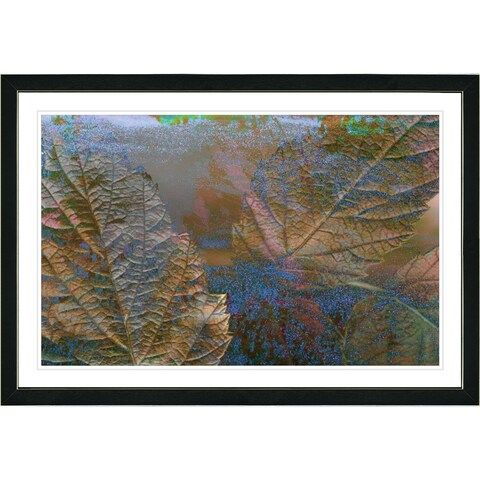Studio Works Modern Framed Fine Art Floral Still Life Painting 'Abstract Autumn' Wall Art Giclee Print by Zhee Singer