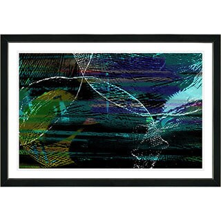 Studio Works Modern Framed Fine Art Abstract Painting 'Conversions' Wall Art Giclee Print by Zhee Singer