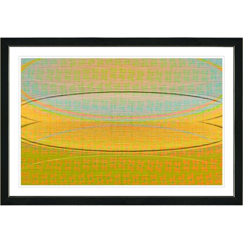Studio Works Modern Framed Fine Art Contemporary Abstract Painting 'Closed End Series' Wall Art Giclee Print by Zhee Singer