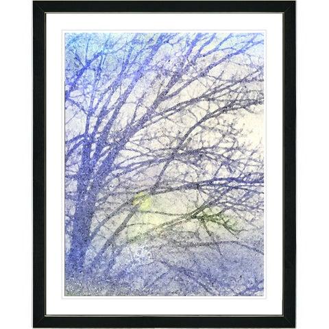 Studio Works Modern Framed Fine Art Floral Still Life Painting 'Winter Sun' Wall Art Giclee Print by Zhee Singer