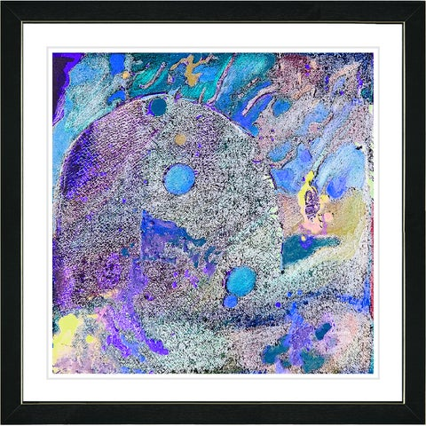Studio Works Modern Framed Fine Art Contemporary Abstract Painting 'Zarafa' Wall Art Giclee Print by Zhee Singer
