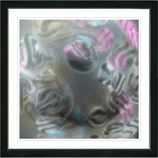 Studio Works Modern Framed Fine Art Contemporary Abstract Painting 'Cloud Chon-Chon' Wall Art Giclee Print by Zhee Singer