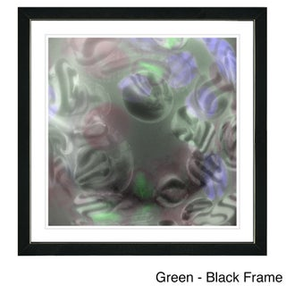 Studio Works Modern Framed Fine Art Contemporary Abstract Painting 'Cloud Chon-Chon' Wall Art Giclee Print by Zhee Singer (More options available)