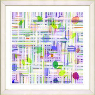 Studio Works Modern Framed Fine Art Abstract Painting 'Pastel Quirk Series' Wall Art Giclee Print by Zhee Singer