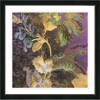 Studio Works Modern Framed Fine Art Floral Still Life Painting 'Tapestry Flowers of Okavanga' Wall Art Giclee Print Zhee Singer