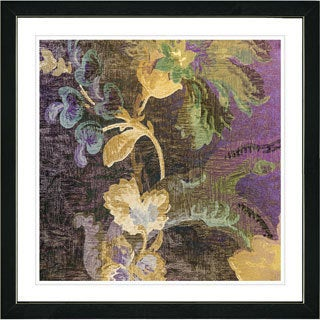 Studio Works Modern Framed Fine Art Floral Still Life Painting 'Tapestry Flowers of Okavanga' Wall Art Giclee Print Zhee Singer (More options available)