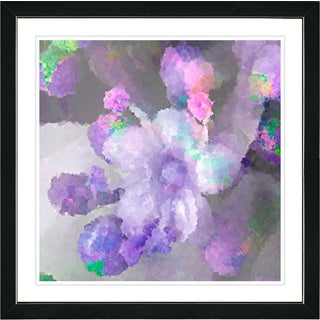 Studio Works Modern Framed Fine Art Floral Still Life Painting 'Pastel Pearl Flower' Wall Art Giclee Print by Zhee Singer