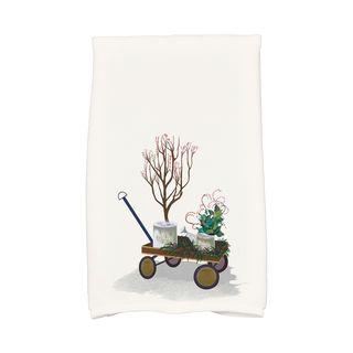 Farmhouse Holiday, Geometric Print Hand Towel