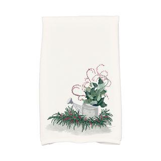 Gardener's Holiday Delight, Geometric Print Hand Towel