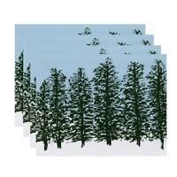 Hidden Forrest, Floral Print Placemat