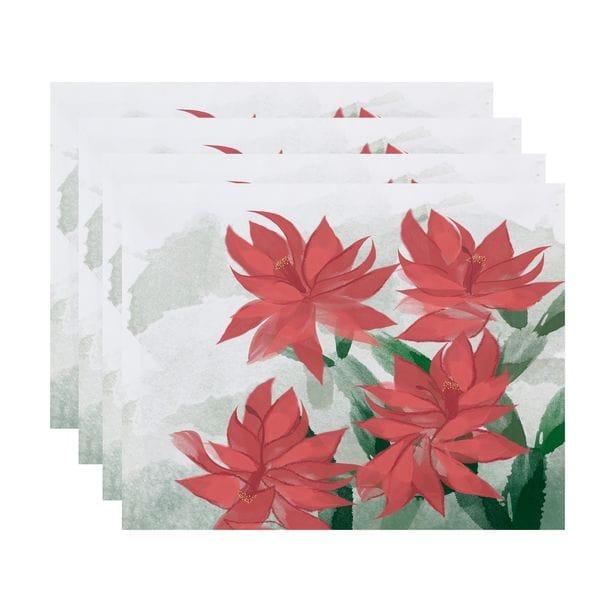 Christmas Cactus, Floral Print Placemat 25547679