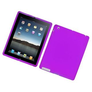 Insten Purple Soft Silicone Skin Rubber Case Cover For Apple iPad 2/ 3/ 4 with Retina display